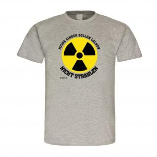 Meine Kinder sollen lachen Atomausstieg 80er 90er Spruch Atom T Shirt #19637