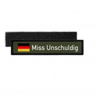 Patch Namensschild Miss Unschuldig BW Prinzessin Humor KDO Aufnäher #27891