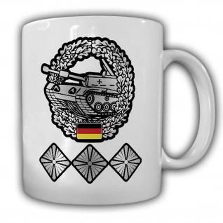 Tasse Bundeswehr Panzer Hptm Panzermann Hauptmann PzBtl Barettabzeichen #25057