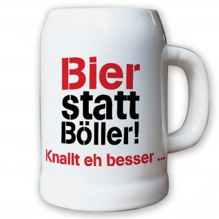 Bier Böller Ballern Knallen Silvester Party Spaß - Krug / Bierkrug 0, 5l #10638