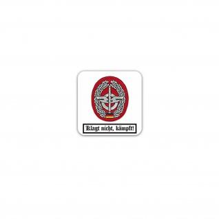 Aufkleber/Sticker Barettabzeichen Nachschubtruppe Heereslogistik 7x7cm A3187