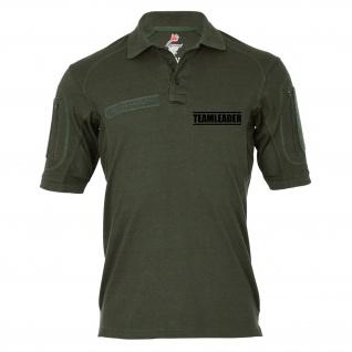 Tactical Poloshirt Alfa - Teamleader Mannschaftsführer Chef Airsoft #19219