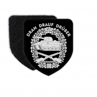 Patch Panzergrenadier Dran-Drauf-Drüber Klett Uniform Bundeswehr #31084