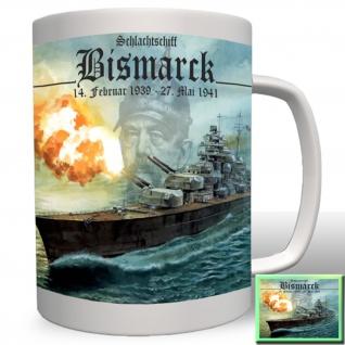 Schlachtschiff Bismarck Marine Schiff Deutschland - Tasse #824a