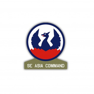 Aufkleber/Sticker SE Asia Command US Army USA Amerika Wappen 7x6, 5cm A1107