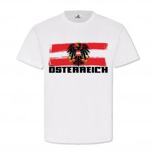Österreich Austria Wappen Fahne Flagge Logo Heimat Alpen - T Shirt #10873