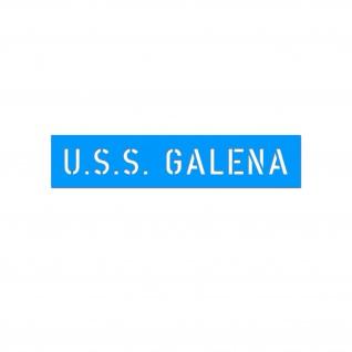 Lackierschablone USS GALENA Amerika Bürgerkrieg US Marine Schiff 1, 5x13cm#A5587