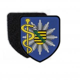 Patch Polizeiarzt Sachsen Polizei Abzeichen Arzt Doktor Mediziner#24249