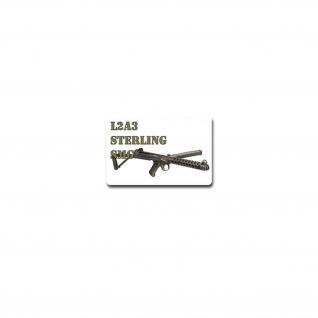 Sterling-Maschinenpistole Aufkleber Sticker Rückstoßlader 11x7cm#A3968
