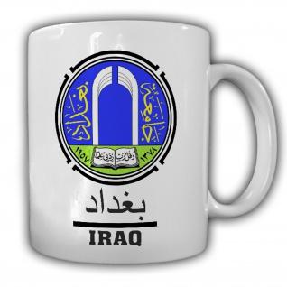 Tasse Irak Kaffebecher Wappen Fahne Stolz Hauptstadt Bagdad #22313