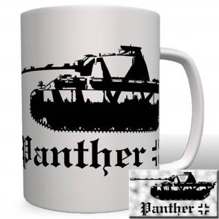 Panther Panzer mit Balkenkreuz - Tasse Becher Kaffee #34171