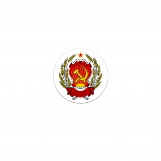 Aufkleber/Sticker RSFSR Wappen Russia Sowjetrepublik Moskau Emblem 7x7cm A3248