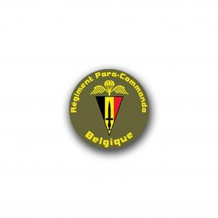 Aufkleber/Sticker Para Commando Brigade Belgische Fallschirmjäger 7x7cm A1599