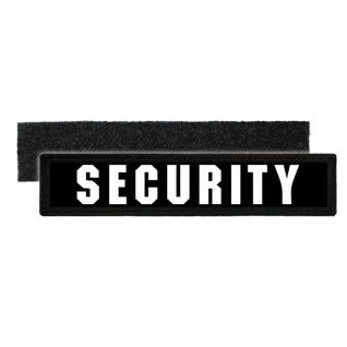 Namensschild Patch Security Sicherheitsdienst Aufnäher Personen Schützer #22535