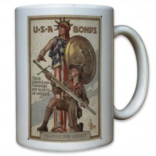 US United States USA Amerika Bonds Pfadfinder WK 2 WW II - Tasse #11600