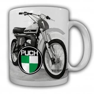 Puch Geländemotorrad Motocross Biker Oldtimer Vintage #22389