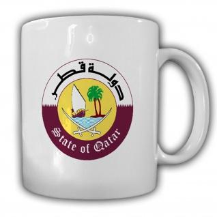 Katar Wappen_Emblem Daulat Qatar Kaffee Becher #13540