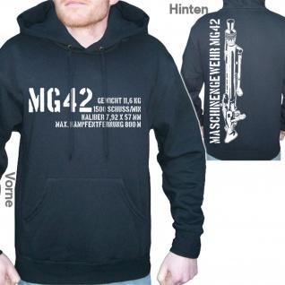MG42 mit Daten Deutschland Militär Mg42 Gewehr 42 - Kapuzenpullover #6188
