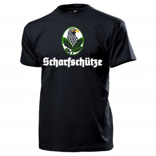 Scharfschütze Abzeichen Sniper Adler mit Eichenlaub Bundeswehr - T Shirt #13215