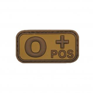 AB Neg Patch 3D Rubber Blutgruppe Minus Aufnäher Ksk Navy Sales Sas 5x2, 5cm #20480