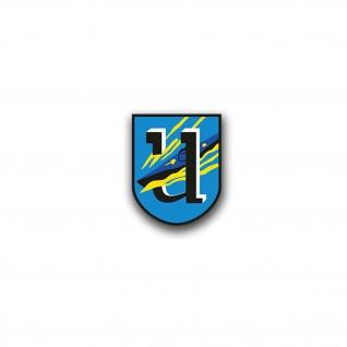 Aufkleber/Sticker 1 U Flotille Wedding Wappen Marine 1 U Flottille 7x6cm A3153
