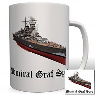 Deutschland Marine Admiral Graf Spee Wk Panzerschiff Militär- Tasse Becher #6494