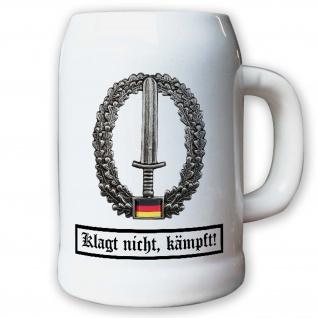 Krug / Bierkrug 0, 5l - Barettabezeichen KSK Kommando Spezialkräfte Sof #11818