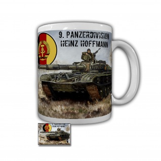 Tasse Lukas Wirp NVA 9 Panzerdivision DDR Bild Heinz Hoffmann T72 Panzer #26856