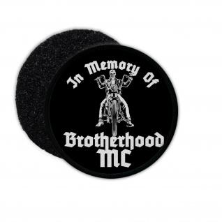 Patch In Memory of Brotherhood Freebiker Aufnäher Biker Truppe #34006