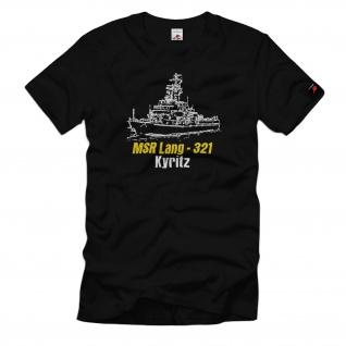 MSR Lang 321 Kyritz NVA DDR Minen Räumboot Volksmarine Schiff T-Shirt#33111