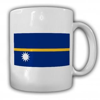 Republik Nauru Fahne Flagge Kaffee Becher Tasse #13819