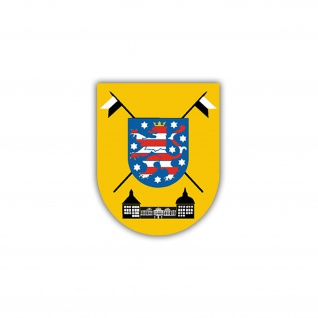 Aufkleber/Sticker AufklBtl 13 Wappen Abzeichen Bundeswehr Aufklärer 7x6cm A1253