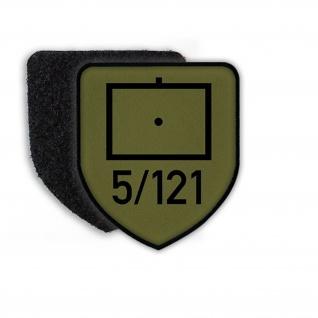 Patch Aufnäher 5 Artillerie 121 Artillerietruppe Taktisches Zeichen Heer#21868