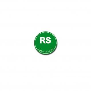 RS Resolute Support Aufkleber Sticker Nato Mission Ausbildung 7x7cm#A3928