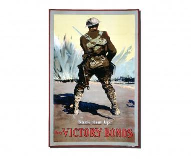 Poster Sicher Ihn Ab Kaufe Sieges Anleihen Propaganda Soldier ab 30x20cm #30949