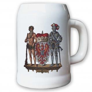 Krug / Bierkrug 0, 5l - Preußische Provinz Brandenburg Landeswappen #9425