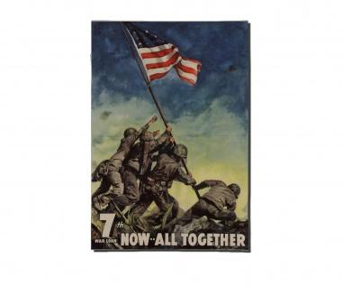 Poster Hissen der Flagge auf Iwojima Marine Soldat Bundeswehr ab 30x21cm #30942