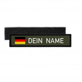 Namenspatch Deutschland Oliv Name Patch Aufnäher Wunschname Germany Klett#25285