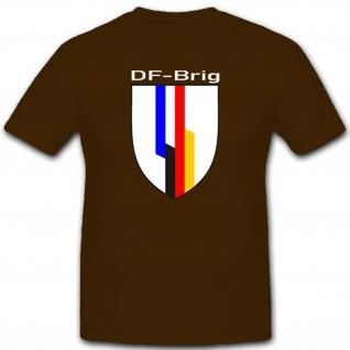 Deutschland Frankreich Militär Einheit Wappen Emblem T Shirt #2390