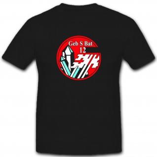 Wappen Gebirgsschützenbataillon 12 Schweizer Armee Militär Einheit T Shirt #3703