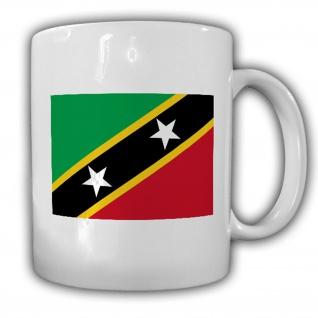Tasse St. Kitts und Nevis Fahne Flagge Kaffee Becher #13915