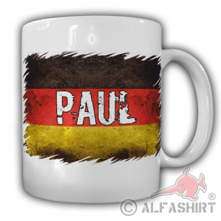 Tasse Paul Name Kaffebecher Tee Fahne Deutschland Flagge #22195