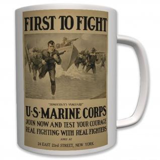 Militär Usa Marines US Marine Corps Rekrutierungs Plakat- Tasse Becher #6455