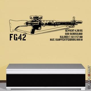 FG 42 deutsche Fallschirmjäger Fallschirmjäger-Gewehr Wandtattoo 120x41cm #7964