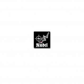 Rudel Aufkleber Sticker Schlachtflieger Offizier 7x7cm#A3938