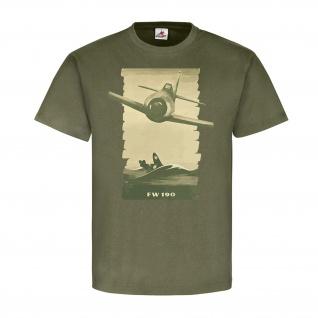 FW190 Jäger Flugzeug Jagdflugzeug Maschine Luftwaffe Plakat T-Shirt#23112