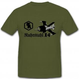 Ruhrstahl X-4 Wk Flugzeuge Luftwaffe Militär Deutschland Prototyp T Shirt #3020