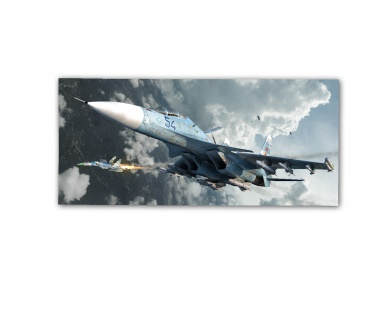 Poster rOEN911 MiG 29 54 Russia Skirmish Ukraine Fulcrum ab30x14cm#30714