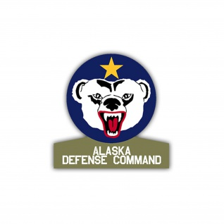 Aufkleber/Sticker Alaska Defense Command US Army USA Amerika Wappen 7x7cm A1106