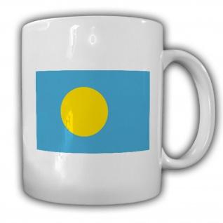 Republik Palau Fahne Belu?uera Belau Flagge Kaffee Becher Tasse #13851